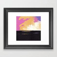 Fields at Sunset Framed Art Print