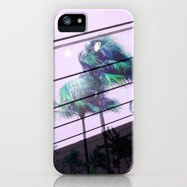 Miami Palm Trees Double Exposure iPhone Case