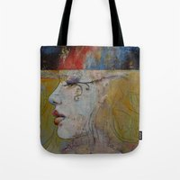 queen Tote Bags featuring Queen by Michael Creese