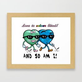 Love is Color Blind Framed Art Print