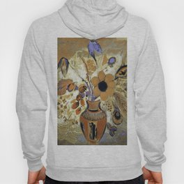 Etruscan Vase with Flowers by Odilon Redon Hoody