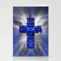 cross Stationery Cards featuring Cross by Mr D's Abstract Adventures