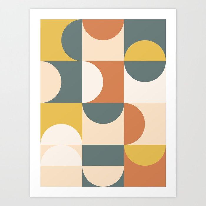 Mid Century Modern Geometric 23 Art Print
