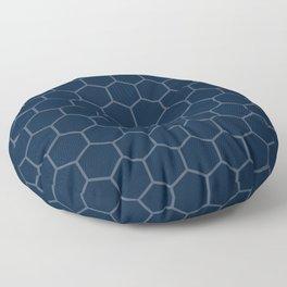 Navy Blue Beehive Floor Pillow