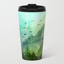 Mountain Morning Metal Travel Mug