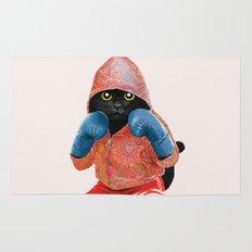 Boxing Cat 2  Rug