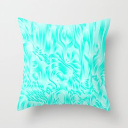 Pastel smudges stains of delicate colors with light blue. Throw Pillow