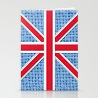 union jack Stationery Cards featuring Union Jack by Cats Hand