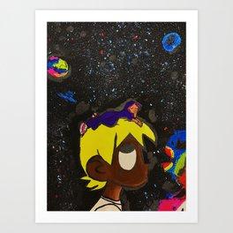 Uzi,painting,mini,small,poster,eternal,album,original,art,artwork,decor,rap,rapper,dope,canvas,cool, Art Print