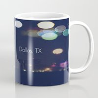 dallas Mugs featuring Dallas, TX by missdolly