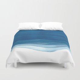 Watercolor blue waves Duvet Cover