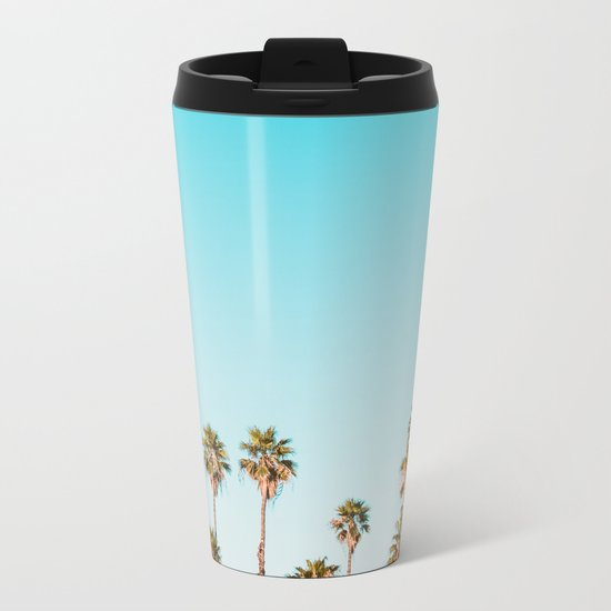 Palm trees in the sun Metal Travel Mug