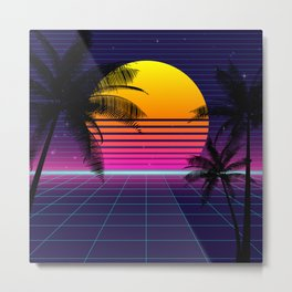 synthwave sunset classic Metal Print