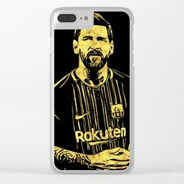 Leo Messi Fan Art Clear iPhone Case