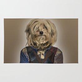 Shaggy mixed-breed dog I Rug