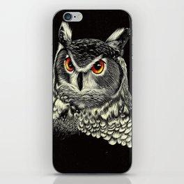Bright-Eyed Owl iPhone Skin
