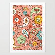 Adora Paisley Art Print
