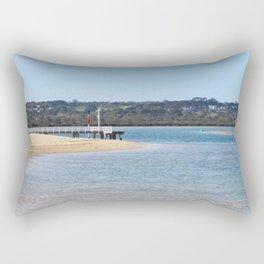 Barwon Heads Beach Print | Bellarine Peninsula Australia | Beach and Bush Rectangular Pillow