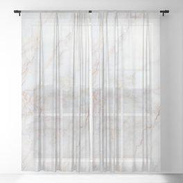 White Marble 004 Sheer Curtain