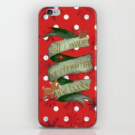 Christmas books iPhone Skin