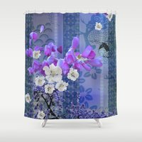 hummingbird Shower Curtains featuring Hummingbird by Sabah