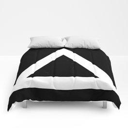 (TRIANGLE) (BLACK & WHITE) Comforters