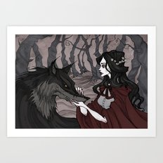 Little Red Riding Hood II Art Print