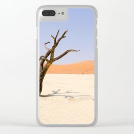 Lone Tree Deadvlei Namibia Clear iPhone Case