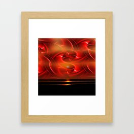 Abstract perfection - Sunst Framed Art Print