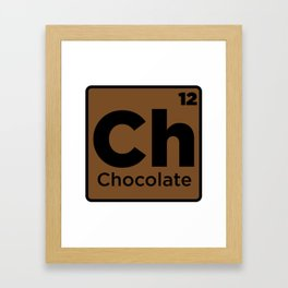 Chocolate Element Framed Art Print