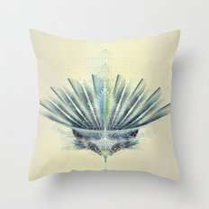 The Feathered Tribe Abstract / II Throw Pillow