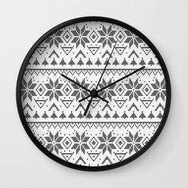 Knitted Scandinavian pattern Wall Clock