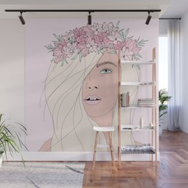 Pink Fairy Portrait Wall Mural