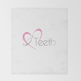 I (heart) Teeth Throw Blanket