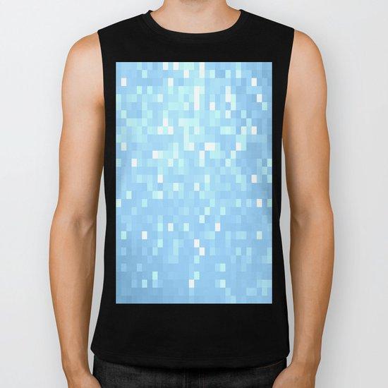 Blue Pixels Biker Tank
