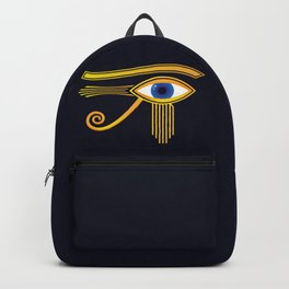 Eye of Horus Gold Ancient Egyptian Amulet Backpack