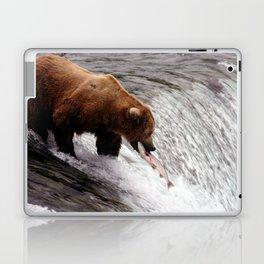 Bear Catching Salmon - Wildlife Photography Laptop & iPad Skin