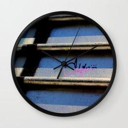Purple Metallic Tagging Wall Clock