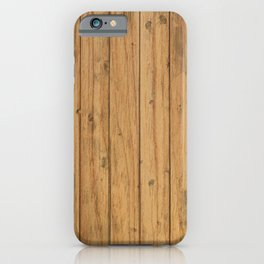 Rustic Wood Panel Pattern iPhone Case