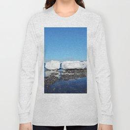 Icebergs along the Tidal shelf Long Sleeve T-shirt