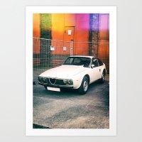 Alfa-Romeo Junior Zagato Art Print