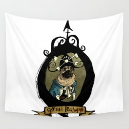 Captain Pug(wash) Wall Tapestry