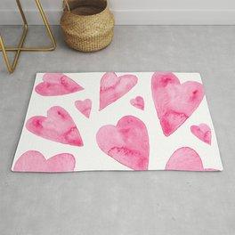 Pink hearts Rug