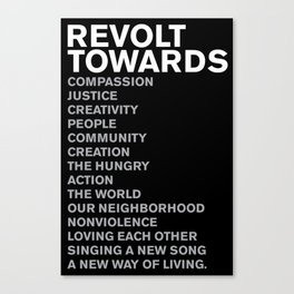 Revolt Towards (White) Canvas Print