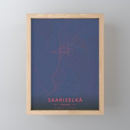 Saariselka, Finland - Neon Framed Mini Art Print