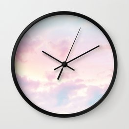 Unicorn Pastel Clouds #2 #decor #art #society6 Wall Clock