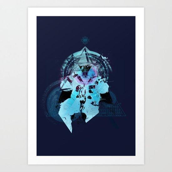 Illuminati Astronaut Art Print