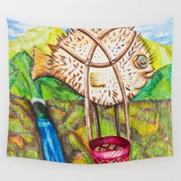 The Blowfish Adventure - Mazuir Ross Wall Tapestry