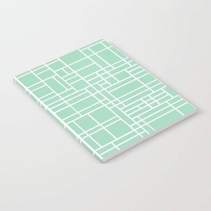 Map Outline Mint Notebook