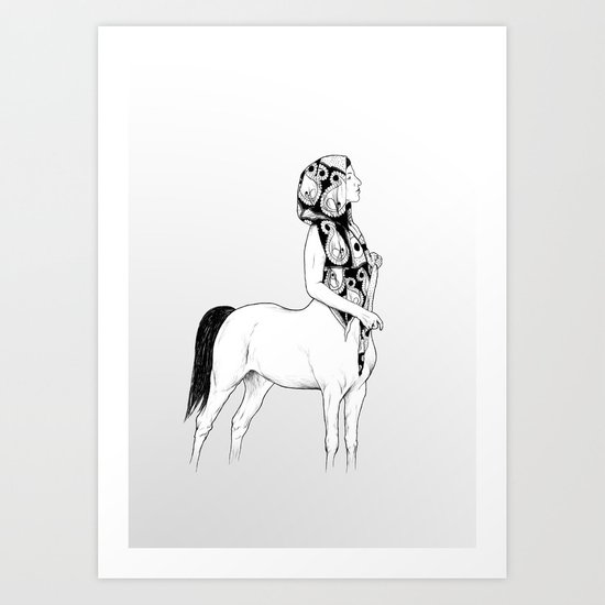 horses for courses I Art Print